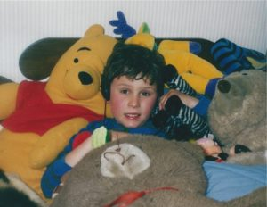 Dan with stuffed animals 3